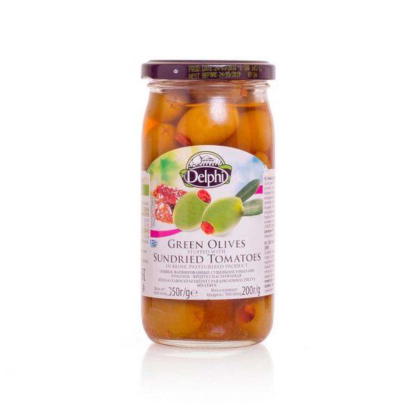 Оливки фаршированные сушеными томатами 350г