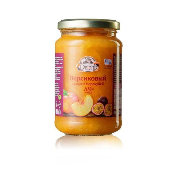 Персиковый десерт с маракуей
