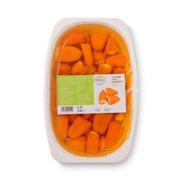 Перец оранжевый сладкий фаршированный сыром 1900г.