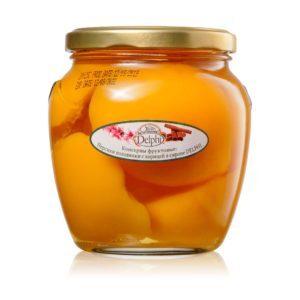 Персики половинки с ванилью в сиропе 550г