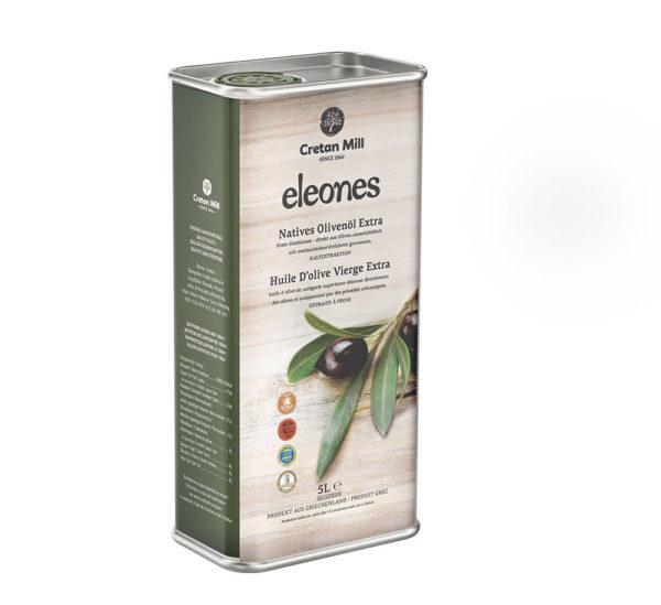 81.0076Масло оливковое Extra Virgin Eleones Cretan Mill 5л