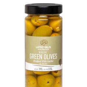 Оливки фаршированные чесноком в рассоле 390г