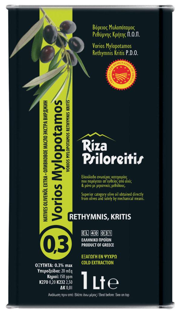 Масло оливковое 0.3 Extra Virgin Vorios Mylopotamos 1л