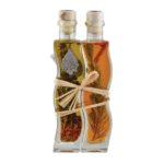 Оливковое масло (Extra Virgin) + винный уксус с травами и специями Kima — 200+200мл